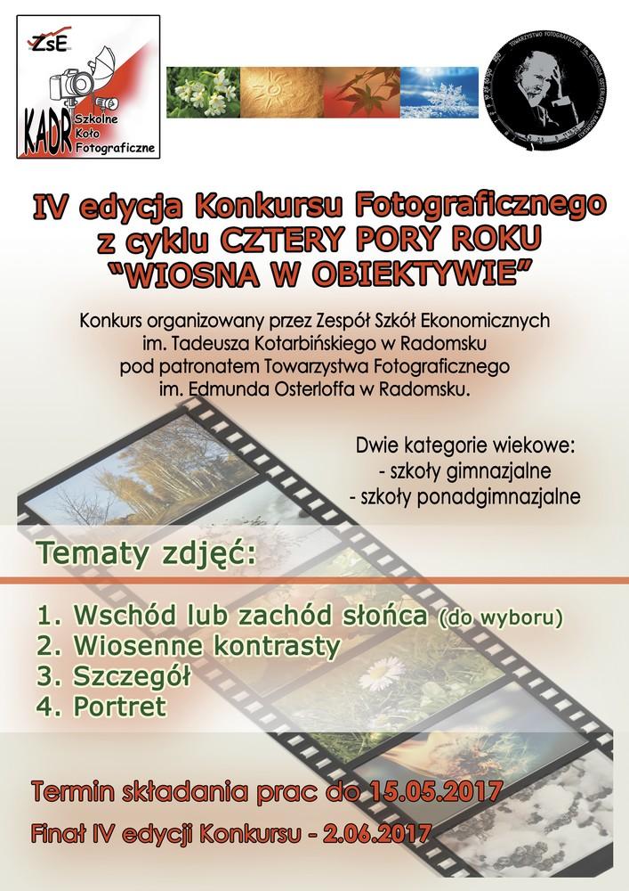 plakat konkurs - cztery pory roku 2017